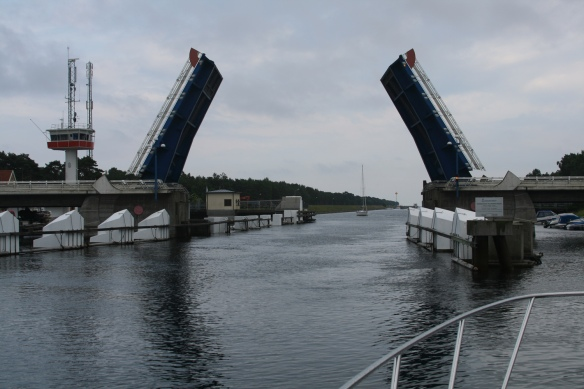 The bridge over Falsterbo canal finally opened for us...