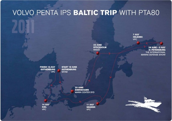 Baltic trip 2011 map of the trip