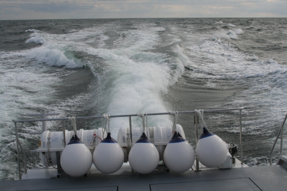 Powerful thrust through the sea. Clean exhausts and low emissions.