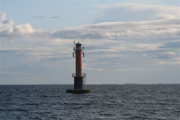 Last lighthouse, Revingegrund, before leaving Sweden and navigating for Finland