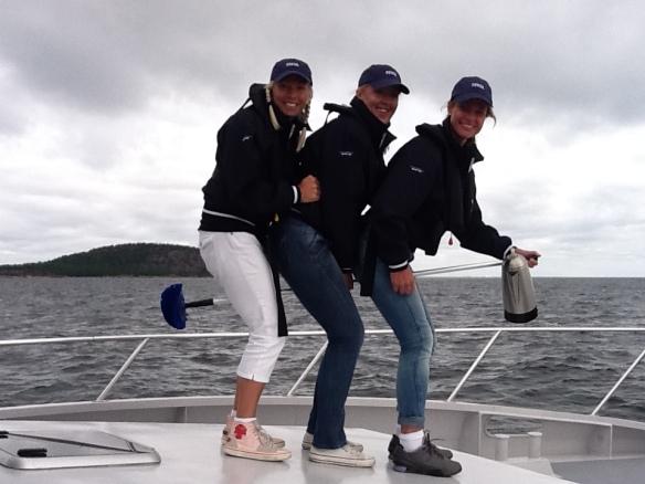 3 witches on their way to Blåkulla / Blue Maiden.