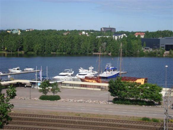PTA80 docked in New Port, Kotka. Preparing for trip to St Petersburg.