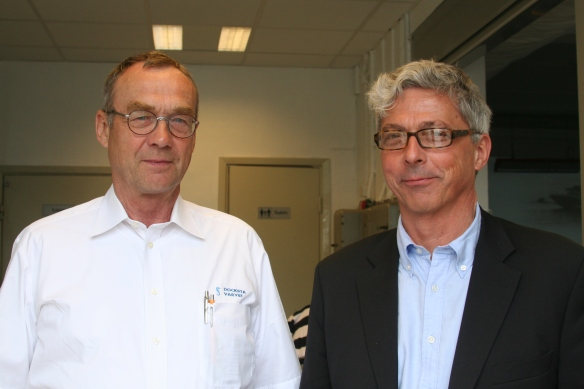 K-A Sundin, owner of Rindö Marine & Docksta varvet on speaking terms with Gerard Törneman.