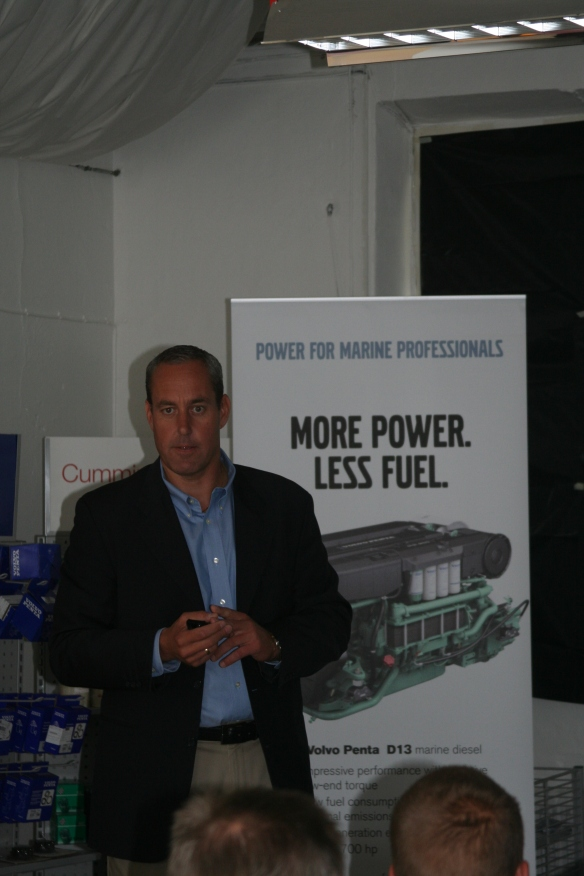 Ulf Eliasson talking about the importance of involving Volvo Penta's Sales Engineering Marine experts early in the design stage.